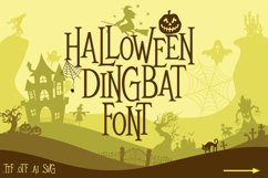 Mitoos Halloween Dingbat Font with svg file Product Image 1