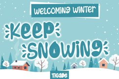 Keep Snowing - Winter Theme Display Font Product Image 1