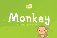 Monkey - Quirky Playful Font Product Image 1