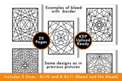 Geometric Coloring Pages - PDF,PNG, JPG files. Printable Product Image 2