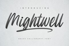 Mightwell - Brush Font Product Image 1