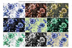 ANEMONE watercolor patterns set Product Image 6