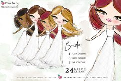 Wedding Clipart Bride & Groom PNG | Drawberry CP017 Product Image 2