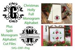 Christmas Holly Monogram & Split Alphabet Duo Product Image 1