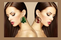 59 Christmas earrings svg Leather earrings svg Necklace svg Product Image 3