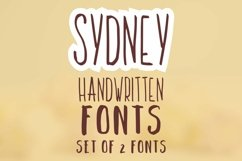 Sydney. Set of 2 handwritten fonts. Product Image 1
