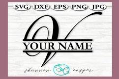 Split Monogram Letter V Single Letter File Product Image 1