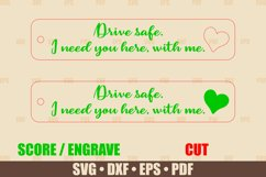 Keychains SVG Glowforge file, Drive Safe Keychain SVG file Product Image 2