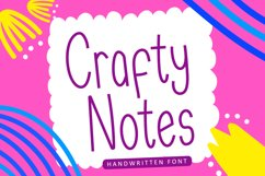 Crafty Notes - Simple Handwritten Font Product Image 1