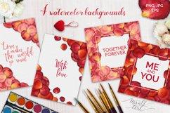Floral watercolor rose petals Product Image 4