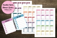 Checklist Hearts Full Boxes Planner Stickers Product Image 1