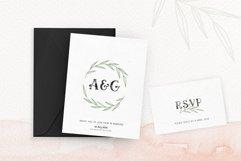 Ciera watercolor svg font family & floral logos clipart Product Image 3