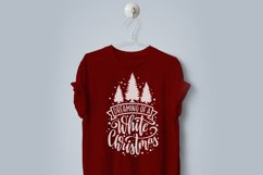 Dreaming of a white Christmas SVG cut file Product Image 2
