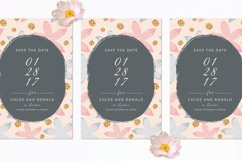 Modern Floral Wedding Invitation Set Product Image 4