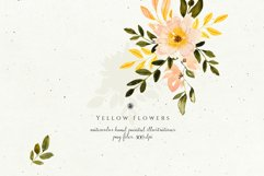 Yellow Watercolor Flowers Product Image 4