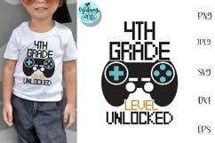 4th grade level unlocked svg, school svg Product Image 1