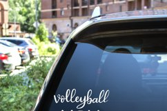 Volleyball mom SVG - Sports mom SVG file, handlettered Product Image 2