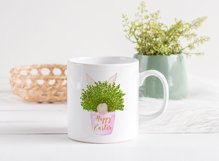 Happy Easter Bunny Pot Print | Easter Design Product Image 2