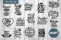 Home SVG bundle, Family quote cut file bundles, Home svgs Product Image 1