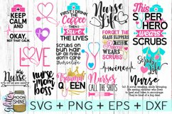 Nurse Bundle SVG DXF PNG EPS Cutting Files Product Image 1