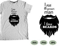 beard svg cut file, mustache silhouette, bearded man svg Product Image 1