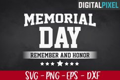 Memorial Day SVG PNG, Remember And Honor Svg, Veterans Svg Product Image 1