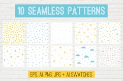 10 Vector Seamless Patterns Product Image 1