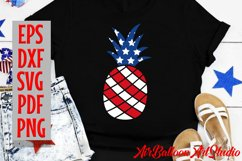 Pineapple SVG America Svg 4th of July Svg pineapple 4th of J Product Image 1