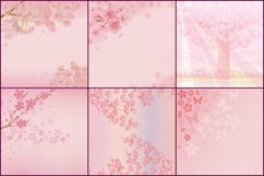 Sakura Japanese Cherry Blossom Digital Papers Product Image 2