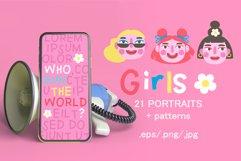 Girls PORTRAITS & patterns set Product Image 1