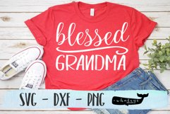 Blessed Grandma Silhouette and Cricut Cut File Product Image 1