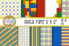 Funny blocks font for building blocks party Product Image 3