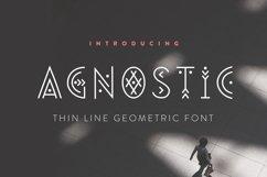 Agnostic - Thin Line Geometric Font Product Image 1