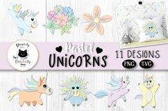 Rainbow Unicorn Clipart | Unicorn SVG Bundle Product Image 1