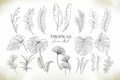 Watercolor & Gold Tropical Leaves Collection Product Image 8