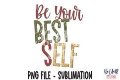 Be Your Best Elf Sublimation Design, Christmas Design Product Image 1