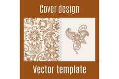 Cover design with henna mehendi pattern Product Image 1