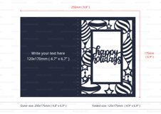 Happy Holidays Invitation cutting file Product Image 4