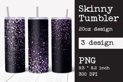 Skinny tumbler sublimation Valentines design 20oz Product Image 1