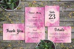 Abstract Pink And Vanilla Painting Wedding Invitation Set Product Image 3