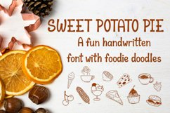 Sweet Potato Pie - a fun font with foodie doodles Product Image 1