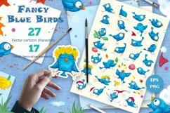Fancy Blue Birds. Big set. Characters. Product Image 1