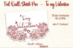 single line foil To my Valentine cutting foil greeting card Product Image 3