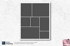 8x10 Photo Collage Photoshop Templates Product Image 2