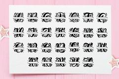 Split Letter Name Font Product Image 5