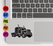Truck, Lorry, HGV  SVG Cutting File  Product Image 3