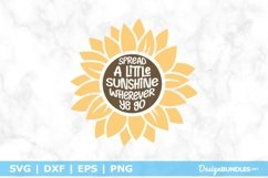 Spread A Little Sunshine - Sunflower Quote SVG Product Image 1