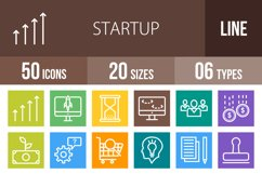 50 Startup Line Multicolor B/G Icons Product Image 1