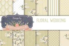 Beige floral Digital Paper Wedding neutral floral bouquet Product Image 1