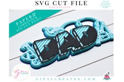 3D Dad Layered SVG Cut File Product Image 1